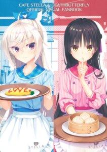 Rating: Questionable Score: 28 Tags: akizuki_kanna cafe_stella_to_shinigami_no_chou kobuichi shiki_natsume yuzu-soft User: Twinsenzw