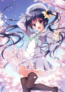 Rating: Safe Score: 129 Tags: himekuri_365 ryohka seifuku skirt_lift thighhighs User: Twinsenzw