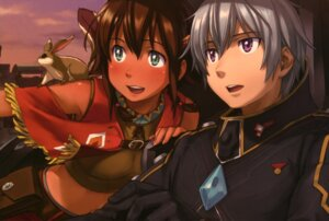 Rating: Safe Score: 17 Tags: amy_(gargantia) grace_(gargantia) ledo naruko_hanaharu suisei_no_gargantia User: drop