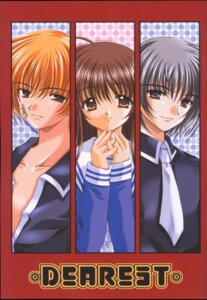 Rating: Safe Score: 3 Tags: fruits_basket honda_tohru jpeg_artifacts nishimata_aoi seifuku sohma_kyo sohma_yuki User: Davison