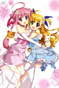 Rating: Safe Score: 53 Tags: animal_ears crossover dog_days dress fujima_takuya heterochromia inumimi mahou_shoujo_lyrical_nanoha mahou_shoujo_lyrical_nanoha_vivid millhiore_f_biscotti neko sacred_heart see_through tail thighhighs vivio User: drop