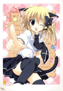 Rating: Questionable Score: 21 Tags: animal_ears korie_riko nekomimi seifuku tail thighhighs User: fireattack