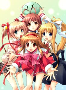 Rating: Safe Score: 34 Tags: air clannad crossover furukawa_nagisa kamikita_komari kamio_misuzu kanon little_busters! sato-pon seifuku tsukimiya_ayu User: fireattack
