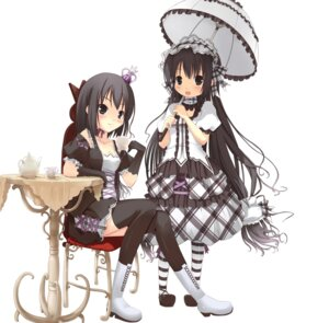 Rating: Safe Score: 32 Tags: dress gothic_lolita lolita_fashion spirtie thighhighs User: hobbito