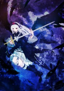 Rating: Safe Score: 5 Tags: cpux4 lolita_fashion rozen_maiden suigintou sword wings User: charunetra