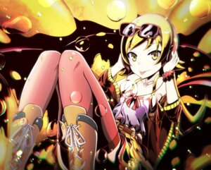 Rating: Safe Score: 26 Tags: bakemonogatari headphones megane monogatari_(series) oshino_shinobu tagme thighhighs User: BattlequeenYume