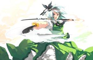 Rating: Safe Score: 27 Tags: konpaku_youmu sword touhou tsukimoto_aoi User: MadMan