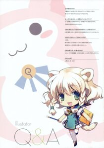 Rating: Safe Score: 8 Tags: animal_ears chibi greenwood ikusabe_lu mimosa tail User: midzki
