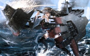 Rating: Safe Score: 40 Tags: haruna_(kancolle) kantai_collection m-ya thighhighs User: Mr_GT