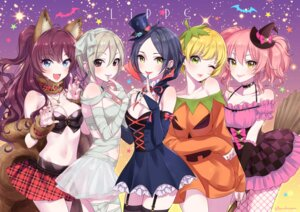 Rating: Safe Score: 51 Tags: animal_ears bandages cleavage dress fishnets halloween hayami_kanade ichinose_shiki jougasaki_mika miyamoto_frederica morikura_en naked_ribbon pantyhose see_through shiomi_shuuko stockings the_idolm@ster the_idolm@ster_cinderella_girls thighhighs witch User: mattiasc02