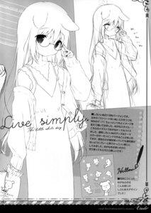 Rating: Questionable Score: 8 Tags: animal_ears megane monochrome shiratama shiroi_inu sketch sweater User: Radioactive