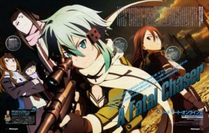 Rating: Safe Score: 31 Tags: endou_tachi gun gun_gale_online kirito sinon sword_art_online takata_akira User: drop