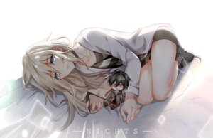 Rating: Safe Score: 23 Tags: bandages chibi isaac_foster nichts rachel_gardner satsuriku_no_tenshi weapon User: charunetra