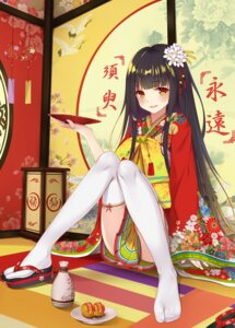 Rating: Safe Score: 99 Tags: feet flan_(seeyouflan) houraisan_kaguya kimono thighhighs touhou User: Mr_GT
