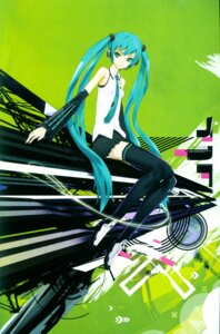 Rating: Safe Score: 29 Tags: hatsune_miku redjuice thighhighs vocaloid User: Radioactive
