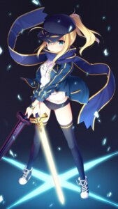 Rating: Safe Score: 50 Tags: buruma fate/grand_order gym_uniform heroine_x masuishi_kinoto sword thighhighs User: Mr_GT