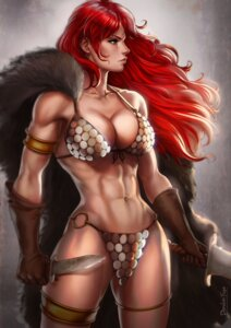 Rating: Questionable Score: 20 Tags: bikini_armor cleavage dandon_fuga garter marvel red_sonja weapon User: NotRadioactiveHonest