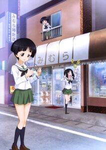 Rating: Safe Score: 10 Tags: girls_und_panzer gotou_moyoko konparu_nozomi megane seifuku sono_midoriko User: drop