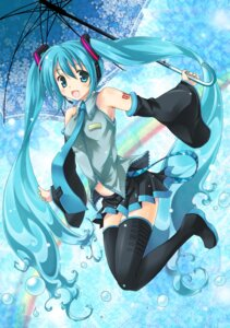 Rating: Safe Score: 30 Tags: hatsune_miku oikawa_tsubame thighhighs vocaloid User: fireattack