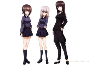 Rating: Safe Score: 15 Tags: girls_und_panzer heels itsumi_erika nishizumi_maho nishizumi_shiho uniform User: drop