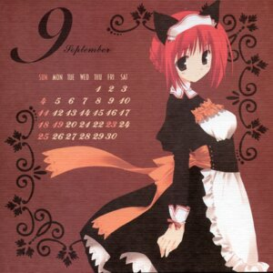 Rating: Safe Score: 4 Tags: animal_ears calendar cut_a_dash!! maid mitsumi_misato nekomimi paper_texture User: cheese