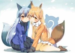 Rating: Safe Score: 40 Tags: animal_ears ezo_red_fox kemono_friends kitsune pantyhose sekira_ame silver_fox tail User: Mr_GT