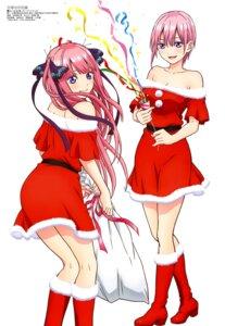 Rating: Safe Score: 44 Tags: 5-toubun_no_hanayome christmas cleavage dress heels nakamura_michinosuke nakano_ichika nakano_nino User: drop