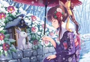Rating: Safe Score: 55 Tags: kimono tonchan umbrella User: Mr_GT