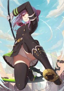Rating: Questionable Score: 88 Tags: hiiragi_shinoa nian owari_no_seraph pantsu seifuku thighhighs weapon User: Mr_GT