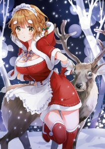 Rating: Safe Score: 32 Tags: christmas cleavage koiwai_yoshino maid masamune-kun_no_revenge thighhighs tiv User: Twinsenzw
