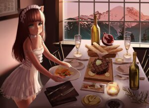 Rating: Safe Score: 49 Tags: animal_ears cleavage dress nekomimi otto User: charunetra