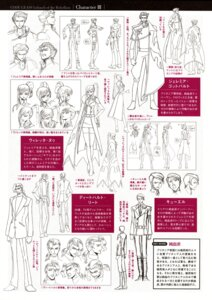 Rating: Safe Score: 6 Tags: character_design code_geass curel diethard_reid jeremiah_gottwald kimura_takahiro monochrome sketch viletta_nu User: admin2