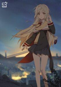 Rating: Safe Score: 30 Tags: hiroshiko_(restart) sample seifuku skirt_lift sweater sword User: sym455