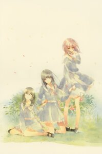Rating: Safe Score: 19 Tags: flowers hanabishi_rikka innocent_grey kousaka_mayuri megane seifuku shirahane_suou sugina_miki User: Hatsukoi
