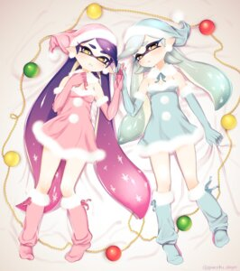 Rating: Safe Score: 30 Tags: aori_(splatoon) christmas dress hotaru_(splatoon) pointy_ears puchiman splatoon User: Mr_GT