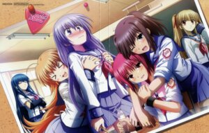 Rating: Questionable Score: 28 Tags: angel_beats! breast_grab crease disc_cover hirata_katsuzou hisako irie_(angel_beats!) iwasawa overfiltered seifuku sekine shiina yusa User: acas