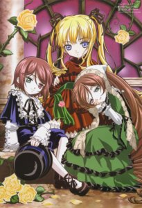 Rating: Safe Score: 11 Tags: heterochromia kasugai_hiroyuki lolita_fashion rozen_maiden shinku souseiseki suiseiseki User: Radioactive