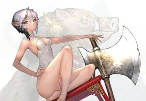 Rating: Safe Score: 28 Tags: animal_ears cleavage hitowa leotard weapon User: Mr_GT