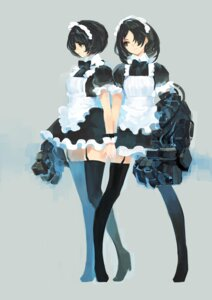 Rating: Safe Score: 31 Tags: maid manase mecha_musume stockings thighhighs User: blooregardo