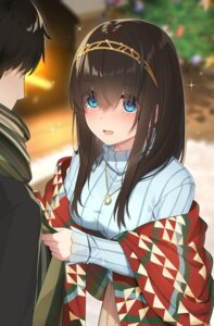 Rating: Safe Score: 31 Tags: christmas go-1 producer sagisawa_fumika sweater the_idolm@ster the_idolm@ster_cinderella_girls User: Mr_GT