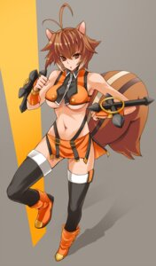 Rating: Questionable Score: 40 Tags: animal_ears blazblue makoto_nanaya prime thighhighs underboob User: Nekotsúh