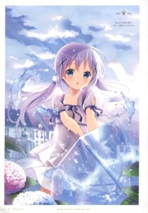 Rating: Safe Score: 98 Tags: dress gochuumon_wa_usagi_desu_ka? kafuu_chino koi see_through umbrella User: fireattack