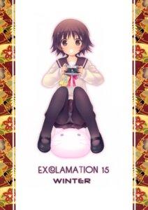 Rating: Questionable Score: 12 Tags: exclamation hashimoto_takashi pantsu pantyhose sawatari_fuu tamayura_~hitotose~ User: Hatsukoi