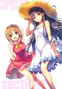 Rating: Safe Score: 105 Tags: dress horikita_suzune kushida_kikyou skirt_lift summer_dress tomose_shunsaku youkoso_jitsuryoku_shijou_shugi_no_kyoushitsu_e User: RKO