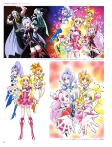 Rating: Safe Score: 4 Tags: aono_miki chiffon_(precure) dress fresh_pretty_cure! heels higashi_setsuna momozono_love pantyhose pretty_cure thighhighs yamabuki_inori User: drop
