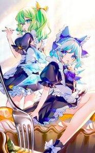 Rating: Safe Score: 13 Tags: cirno daiyousei hinasumire maid skirt_lift touhou wings User: Mr_GT