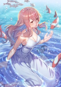 Rating: Safe Score: 73 Tags: bra cleavage dress heels koe_no_katachi nishimiya_shouko raijuu_(bakanara) summer_dress wet User: mash