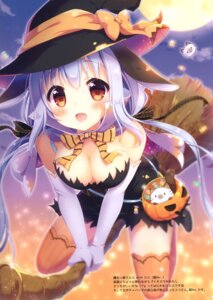 Rating: Questionable Score: 39 Tags: animal_ears aoi_yun bunny_ears cleavage dress halloween tagme thighhighs witch User: Radioactive