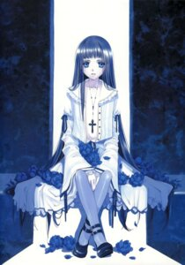Rating: Questionable Score: 16 Tags: dress lolita_fashion no_bra open_shirt pantyhose shiina_yuu tenkyudho User: midzki