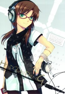 Rating: Safe Score: 54 Tags: headphones hiiro_yuki makinami_mari_illustrious megane minus_art_works neon_genesis_evangelion pantyhose User: fireattack